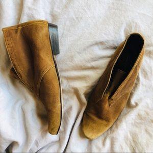 Elizabeth & James Louie Brown Suede Ankle Bootie